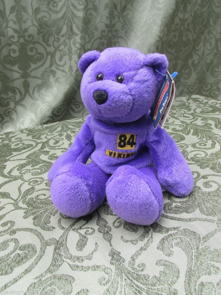 Minnesota Vikings Randy Moss 84 Limited Treasures Plush Beanie Bear   LimitedTreasures d7ee80051dc