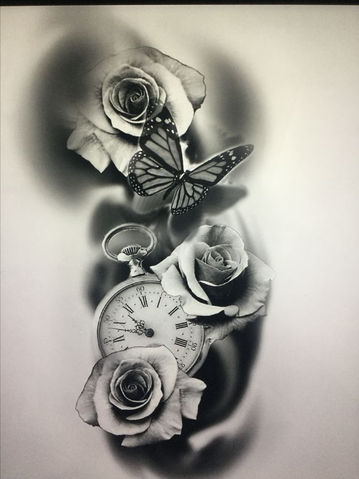 200 Photos Of Female Tattoos On Arm For Inspiration Photos And Tattoos Flowertattoos Clock And Rose Tattoo Tattoos Watch Tattoos