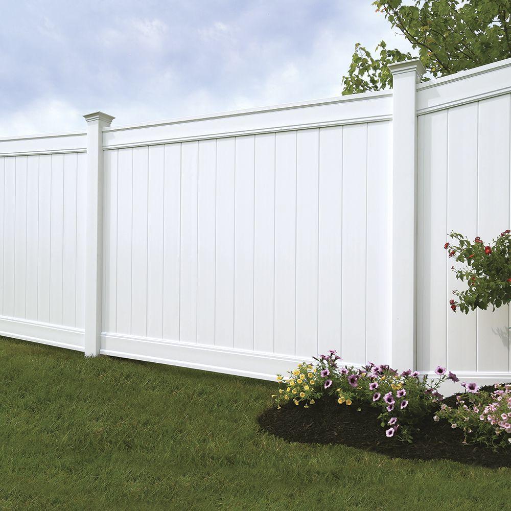 Emblem 6x8 Vinyl Privacy Fence Kit Vinyl Fence Freedom Outdoor Living For Lowes Vinyl Privacy Fence Vinyl Fence Panels Backyard Fences