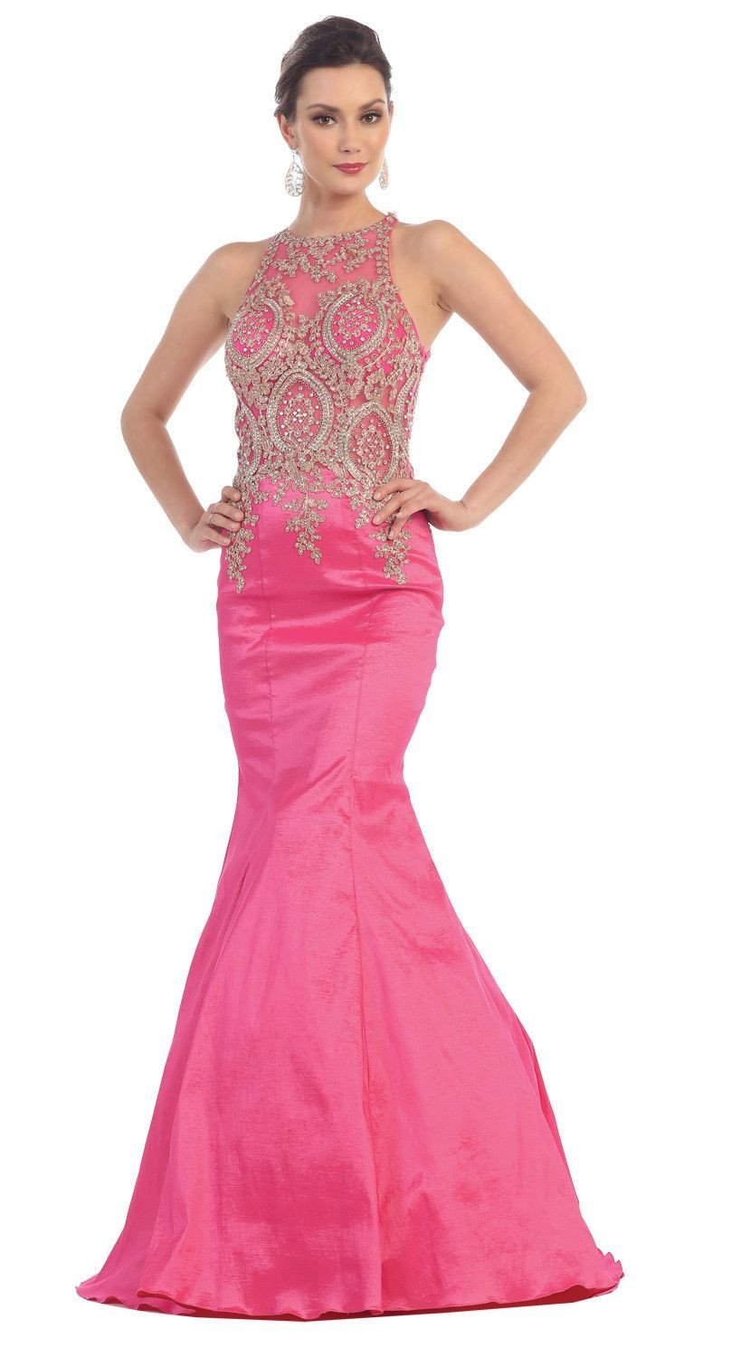 Formal long prom dress fitted mermaid products pinterest