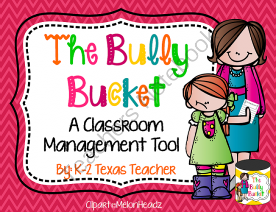 The Bully Bucket: A Classroom Management Tool from Tangled Up In Teaching on TeachersNotebook.com (6 pages)  - This tool helps to promote a safe sharing environment in the classroom. With this tool students will feel empowered to share their concerns about bullies at anytime