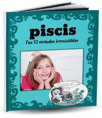 Libro personalizado del signo Piscis para regalo cumpleaños original