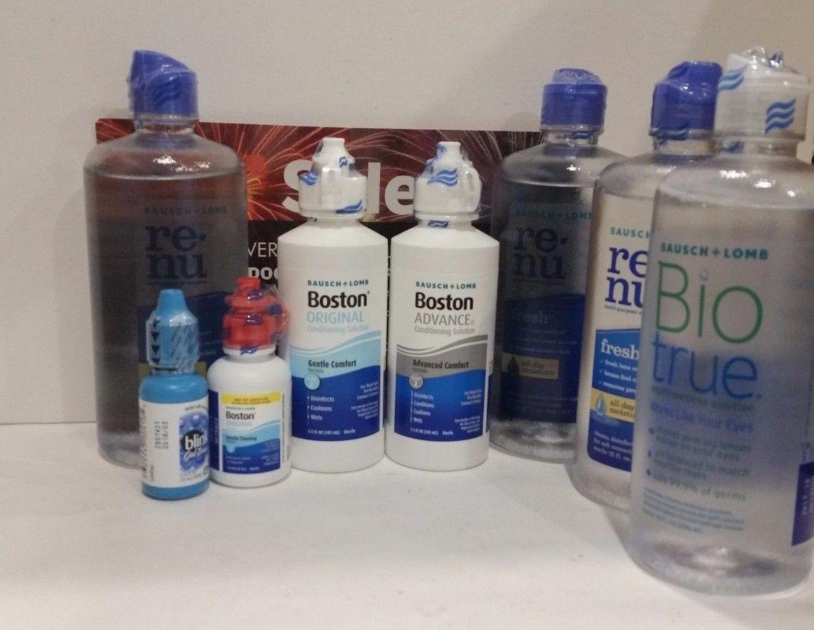 Eye Drops and Wash: 7 Bausch+Lomb Eye Care Boston Renu Bio True +Blink Gel Tears 10Ml -> BUY IT NOW ONLY: $46.99 on eBay!