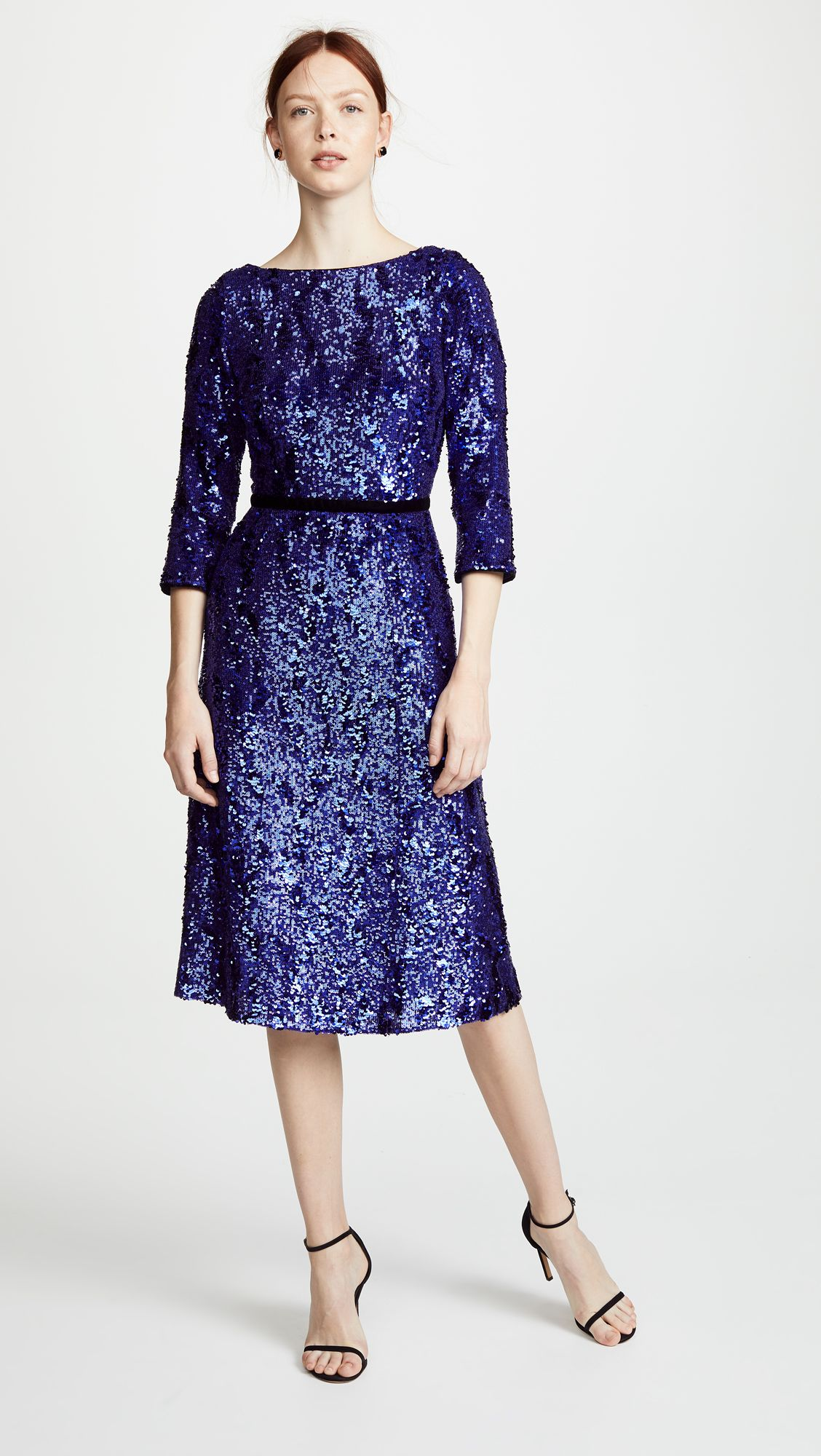 3bc14eda6a8d Marchesa Notte Sequin Dress | SHOPBOP mother of the bride mother of the  groom 3/4 sleeve midi purple blue navy sequin dress