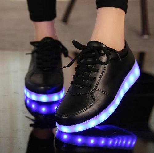 zapatos converse con luces