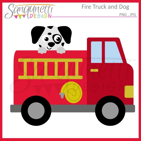Sanqunetti Design Fire Truck Clipart Fire Trucks Drawing For