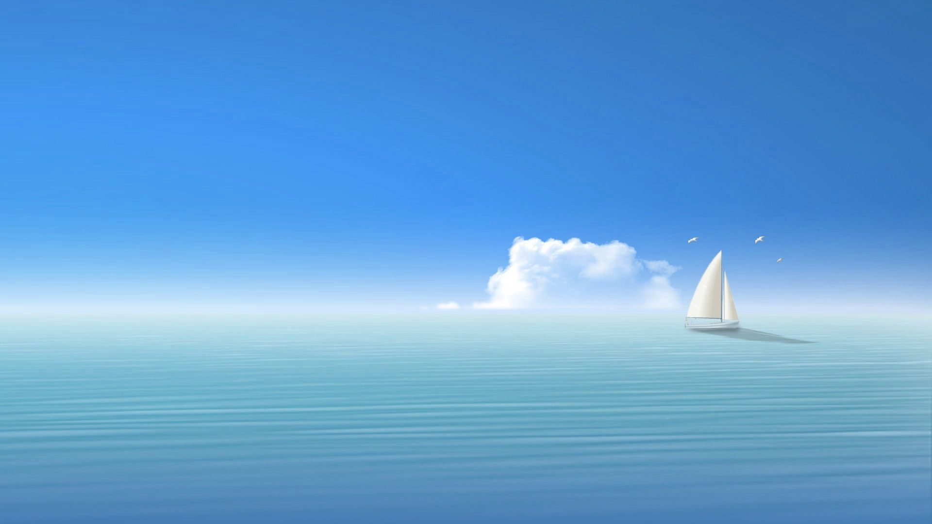 download wallpaper 1920x1080 blue sea ship sky full hd 1080p hd