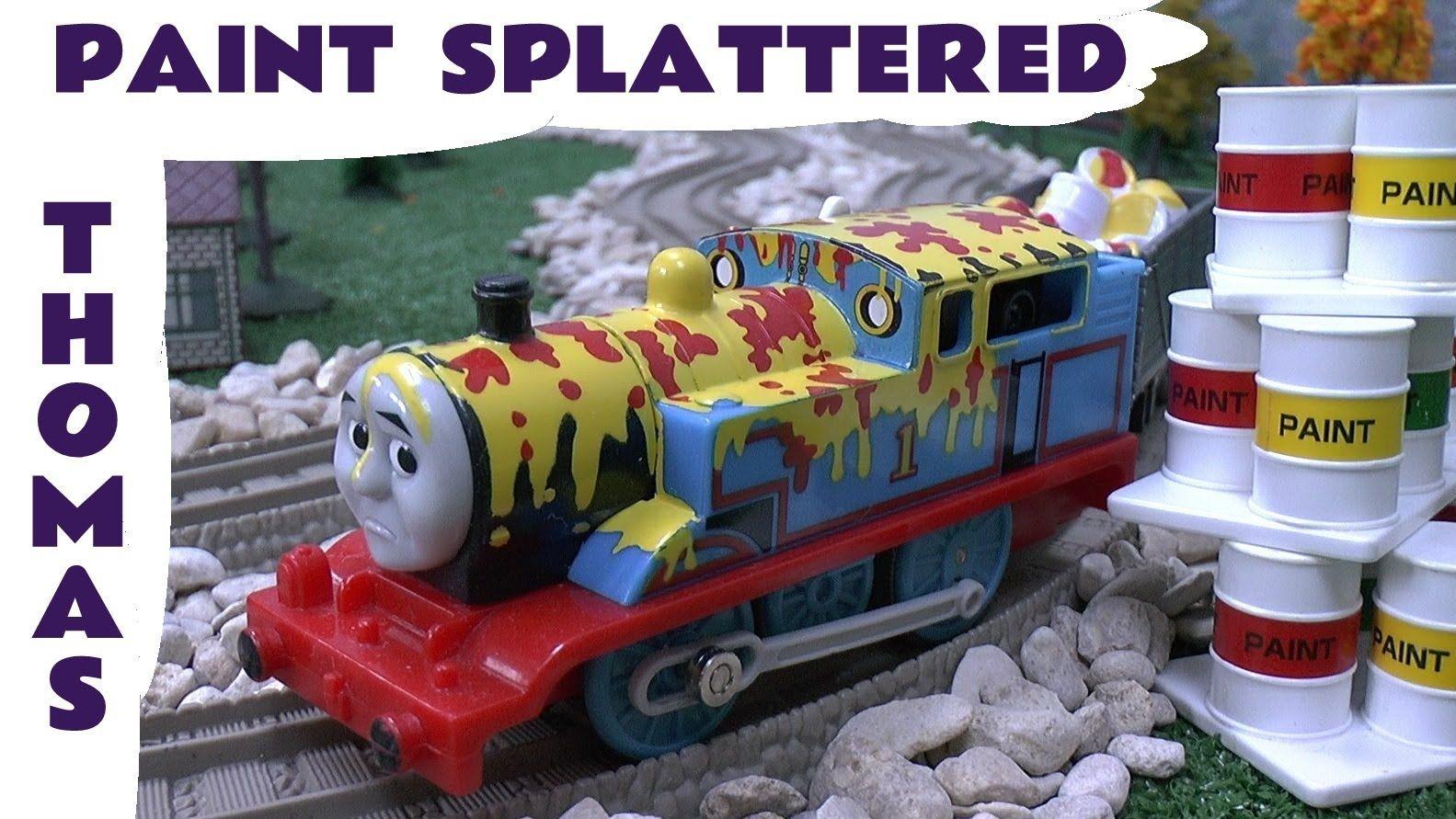 Thomas and Friends Spotlight PAINT SPLATTERED THOMAS Tomy