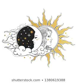 Imagenes Fotos De Stock Y Vectores Sobre Luna Y Sol Shutterstock Dibujo De Sol Sol Y Luna Tumblr Tatuaje Sol Y Luna