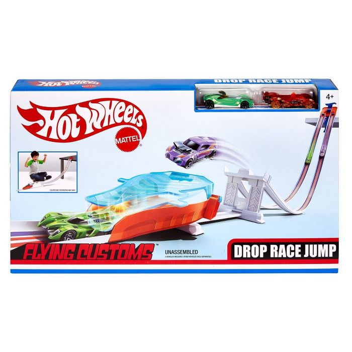 Hot Wheels Flying Customs Race And Jump Trackset Hot Wheels Racing Hot Wheels Cars