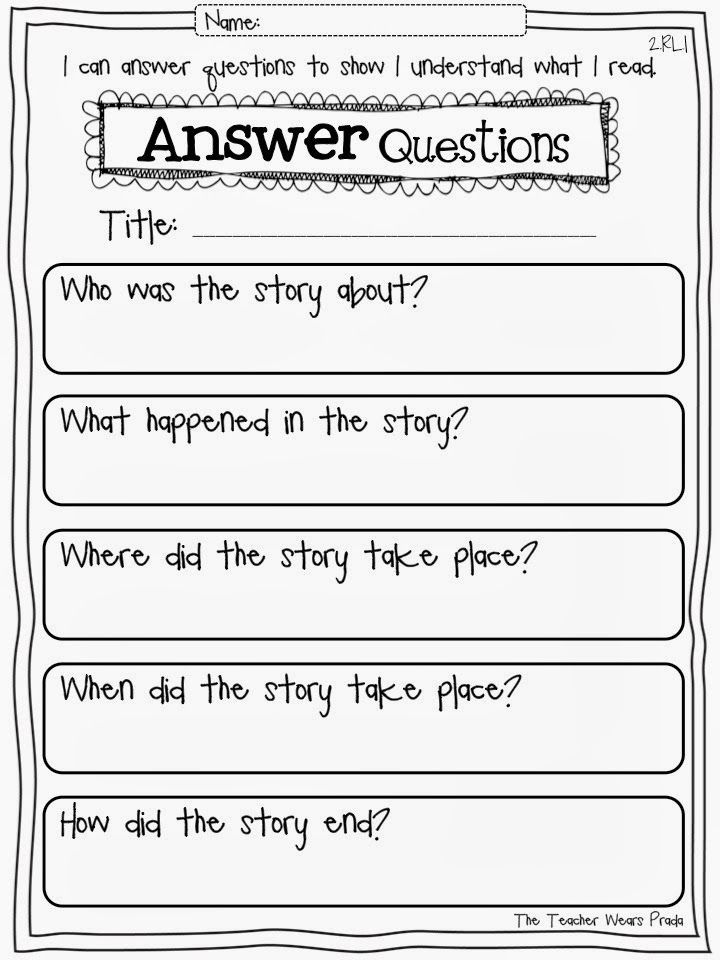 Second Grade With The Teacher Wears Prada Common Core Reading Response Pages Reading Response Worksheets Common Core Reading 2nd Grade Reading Common core reading worksheets grade