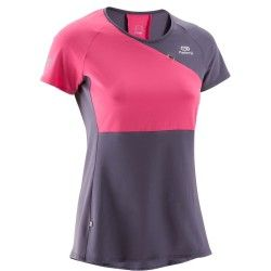 a60ccc7b817bb CAMISETA DE RUNNING MUJER ELIOFEEL GRIS ROSA