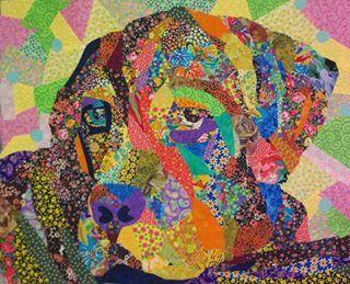 Fabric mosaic uploaded by Bronwyn Rasheed - https://www.pinterest.com/bronwyn151515/fabric-mosaic/