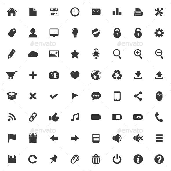 Website icons set Vector
