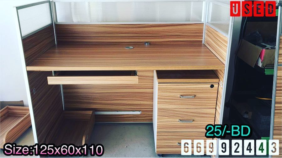 For Sale Modern Office Partitions Size 125x60x110 Brown With White Color With Drawer Excellent Condition Price 25 Bd Bunk Beds Home Decor Furniture