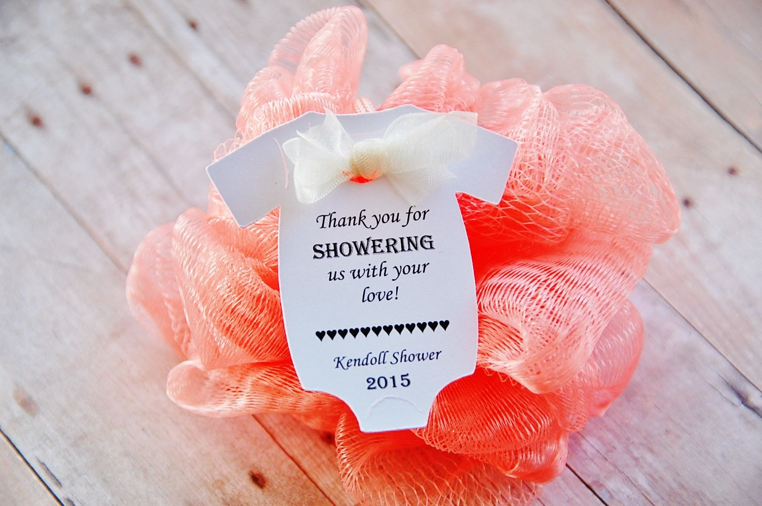 Thank you for showering us with your love baby shower thank you gift ...