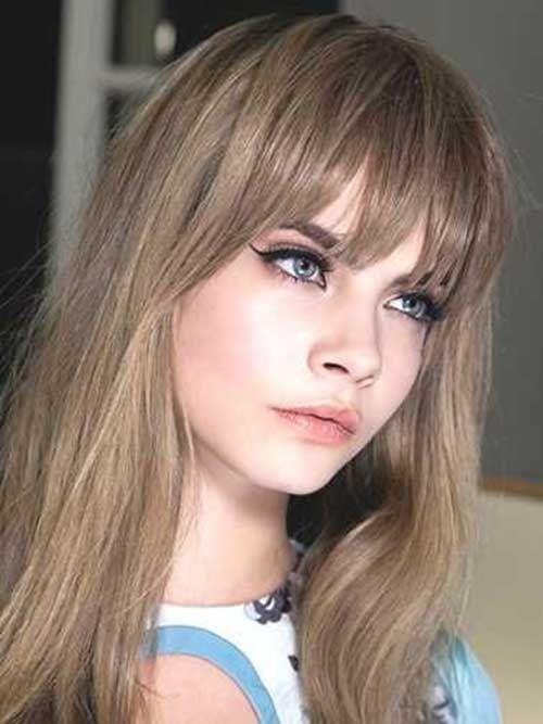 20 Peinados Largos Con Flequillo 2018 2019 Personas Hair