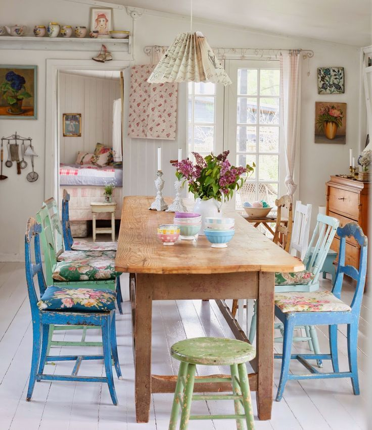 13 fotos con decoración de comedores vintage Dining sets, Living