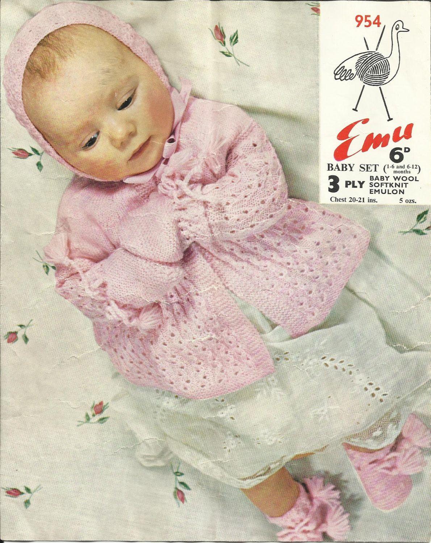 PDF Emu Knitting Pattern #954, 3Ply / Light Fingering, Sz 20 & 21 ...
