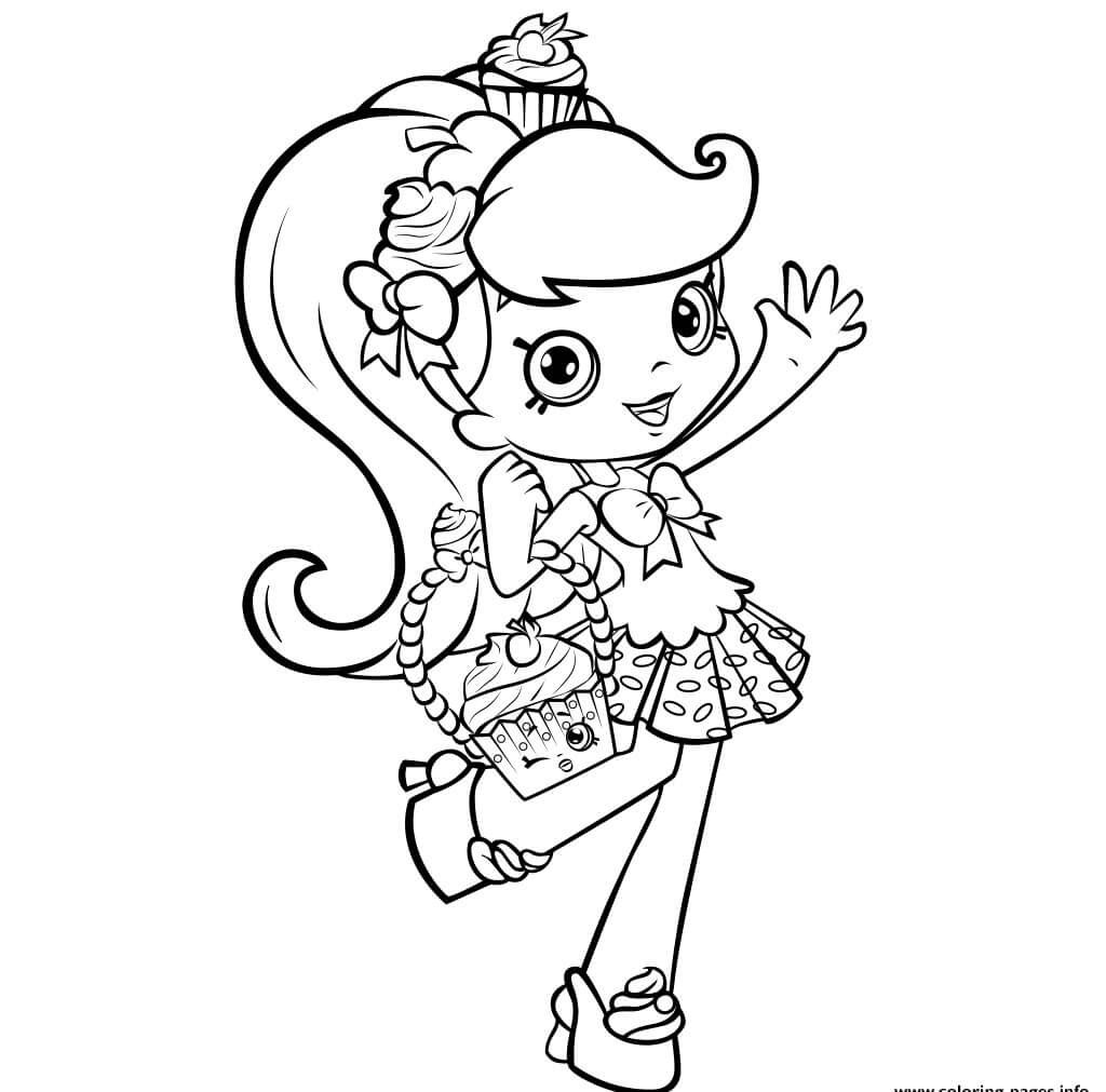 Shopkins Jessicake Coloring Pages on a budget