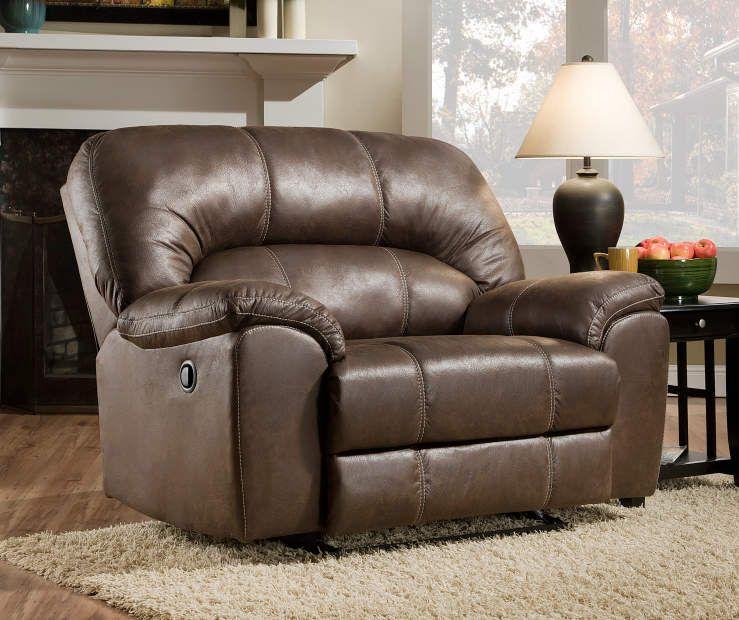 Stallion Brown Snuggle Up Recliner Living Room Furniture Living
