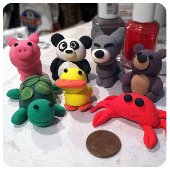 lil' animals made from crayola model magic! http ...