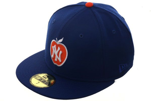 ccfb725eb56 New York Yankees  Apple Logo  Fitted Hat. New York Knicks Colorway ...