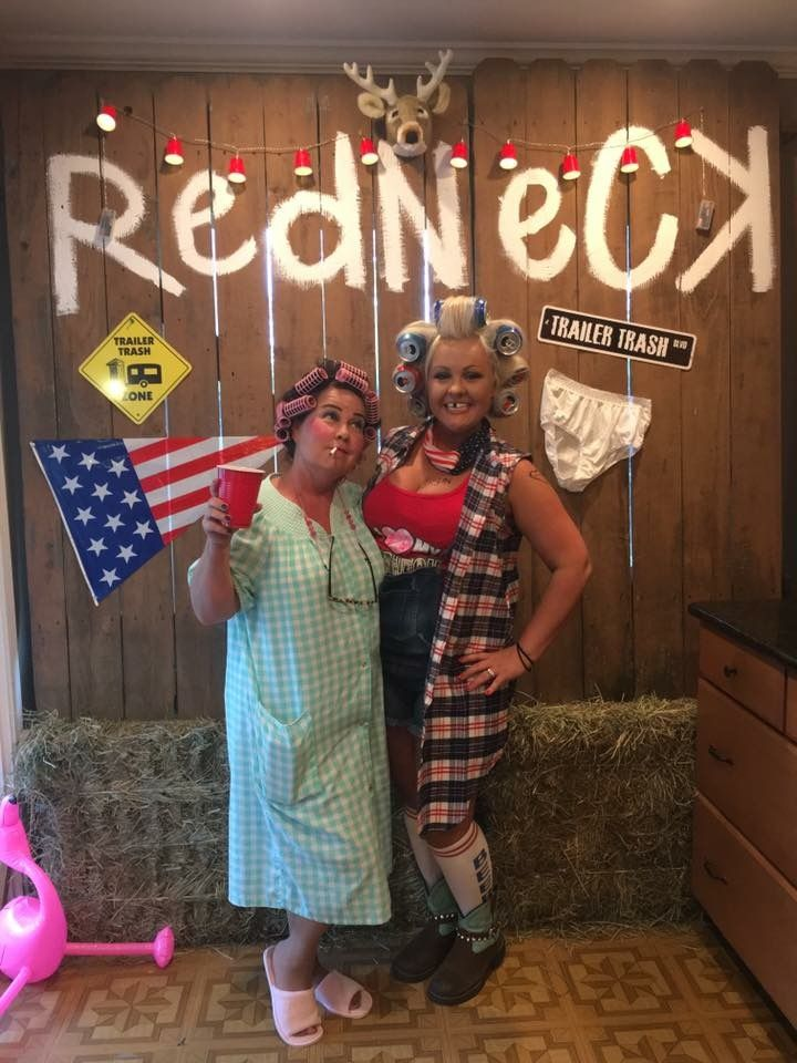 Redneck party photobooth background Definitely doing a photo – Trailer Trash Party Invitations
