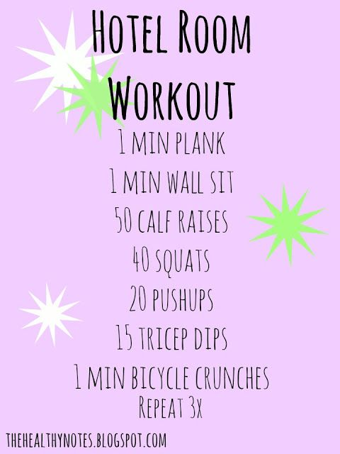 Hotel Room Workout This Can Also Serve As A Dorm Workout Plan. Part 54