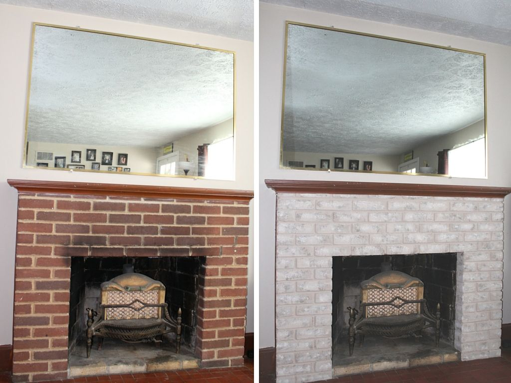 Brick fireplace and Paint brick fireplaces