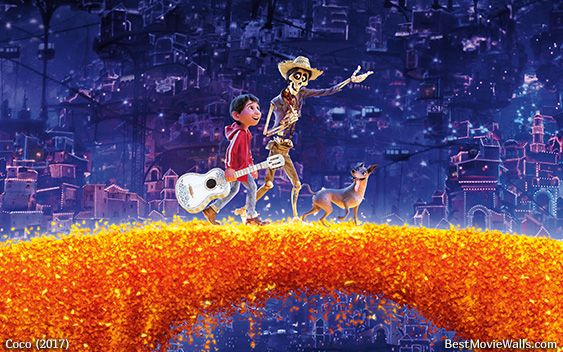 Walking on the orange-petal bridge from #Coco in this #