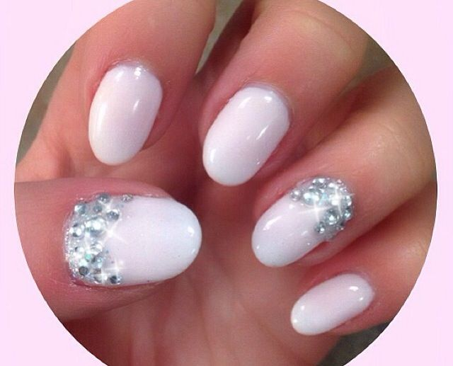 Baby Pink with Rhinestones