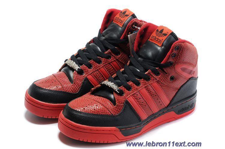best service 96f32 b9833 Adidas X Jeremy Scott Big Tongue Shoes Red Black Online  Lebron 11 EXT   Pinterest  Blacked online, Jeremy scott and Red black