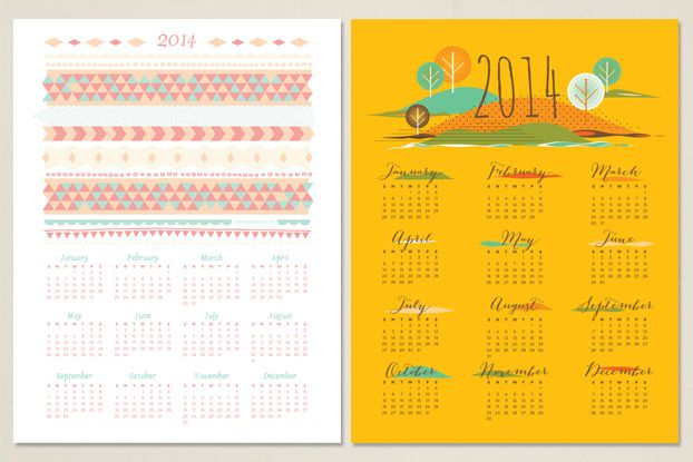 12 Cute Free Printable Calendars For 2014 Printable Calendars