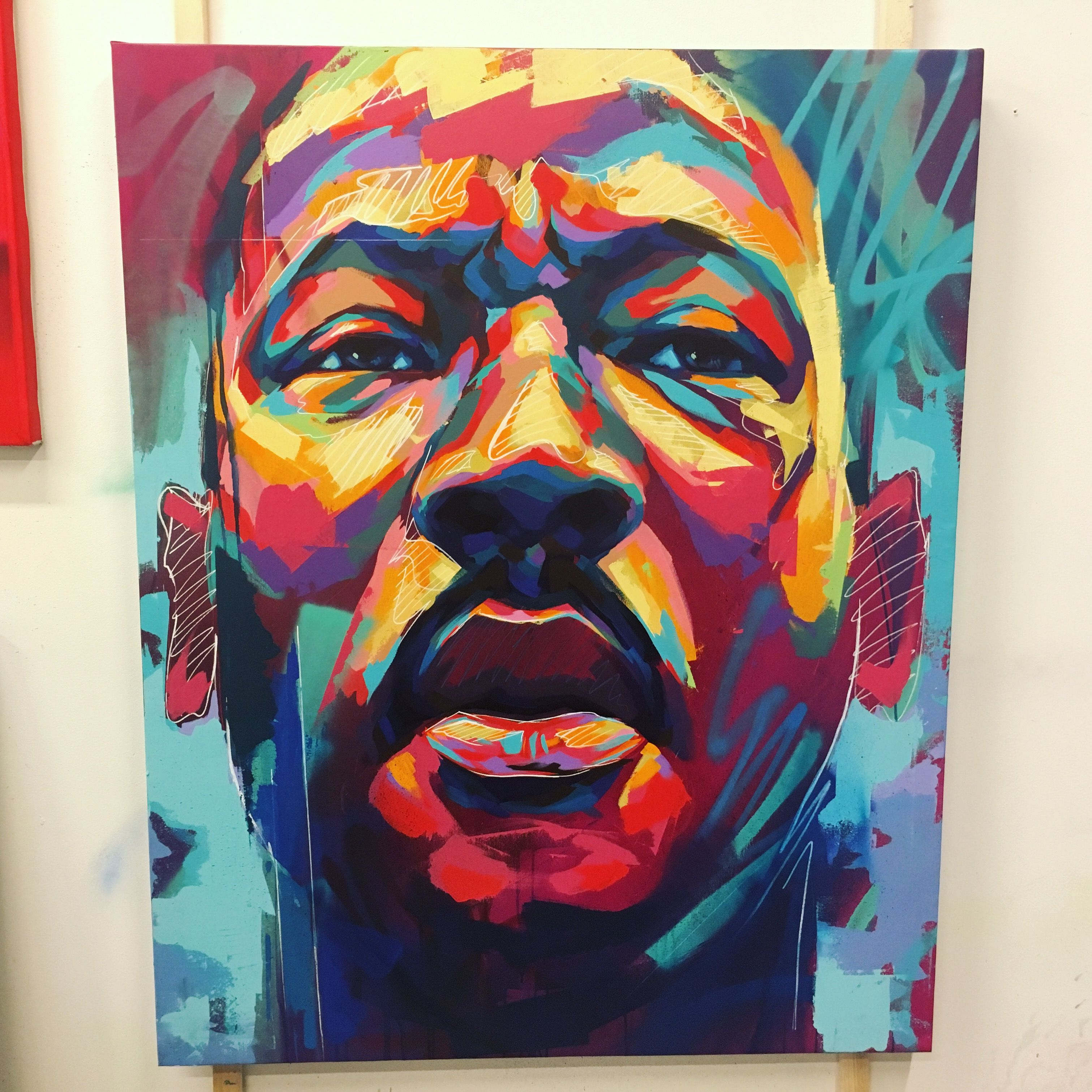 Martin Luther King Jr / MLK - by artist Detour Abstract portrait ...