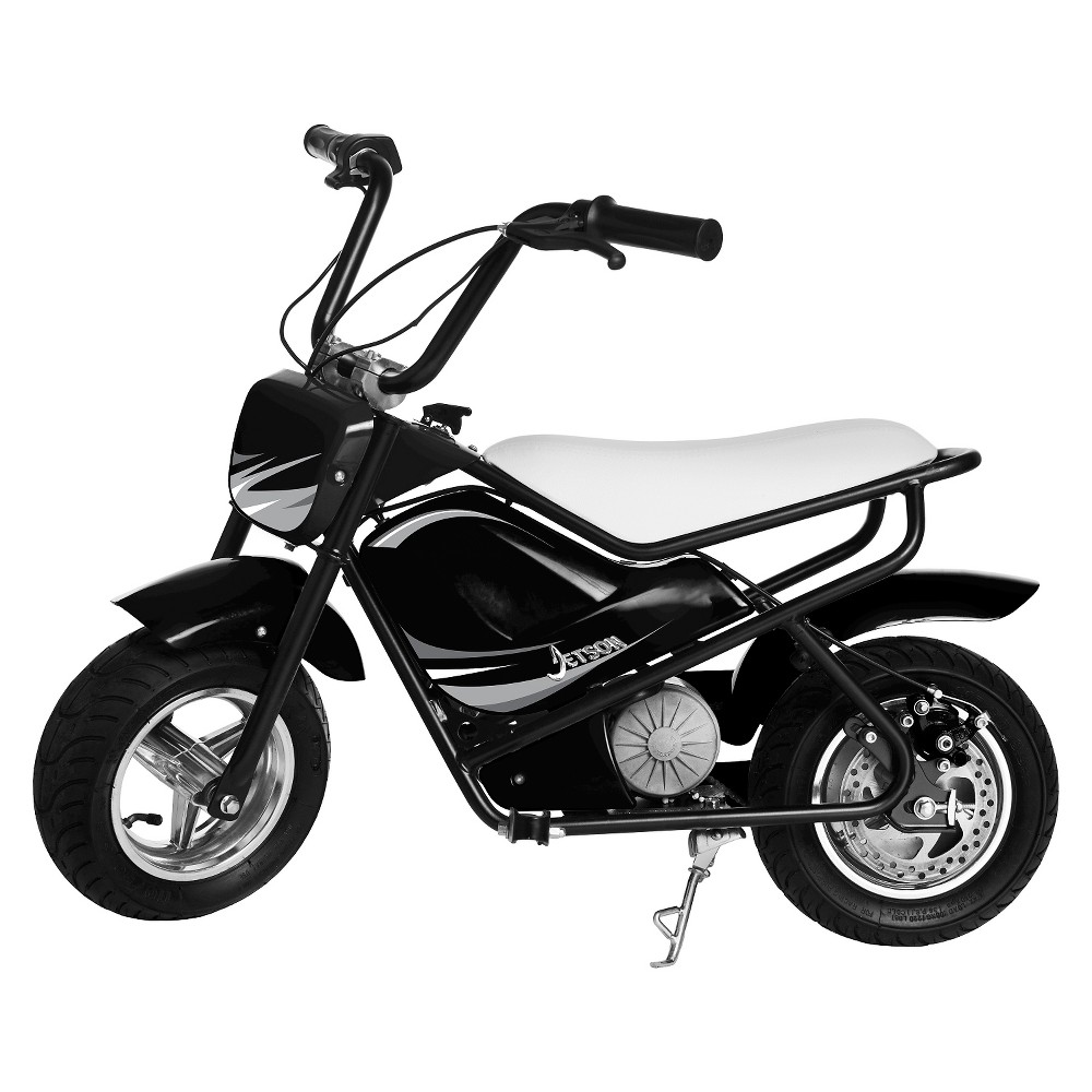 The Jetson Electric Bike in Black/White is fully electric ...