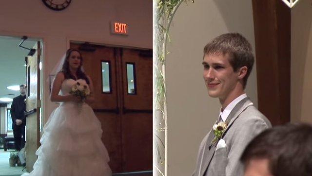 This Beautiful Bride Surprises Her Groom By Serenading Him As She Walks Down The Aisle During Their Wedding Ceremony Watch Video Here