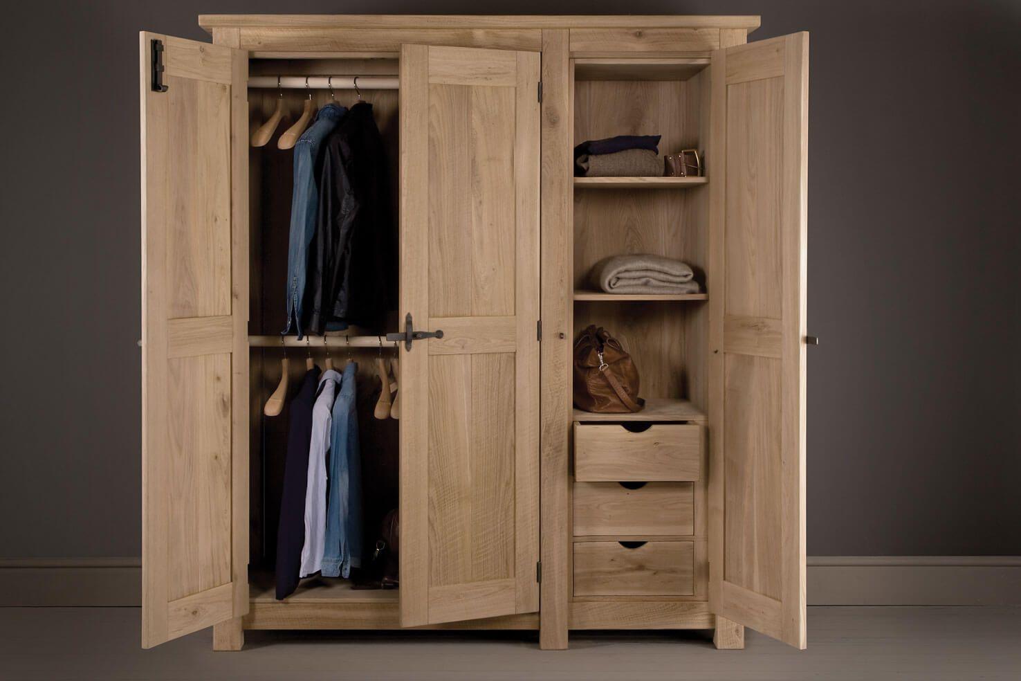 Oak Panel Wardrobe Handcrafted By Indigo Furniture Indigo