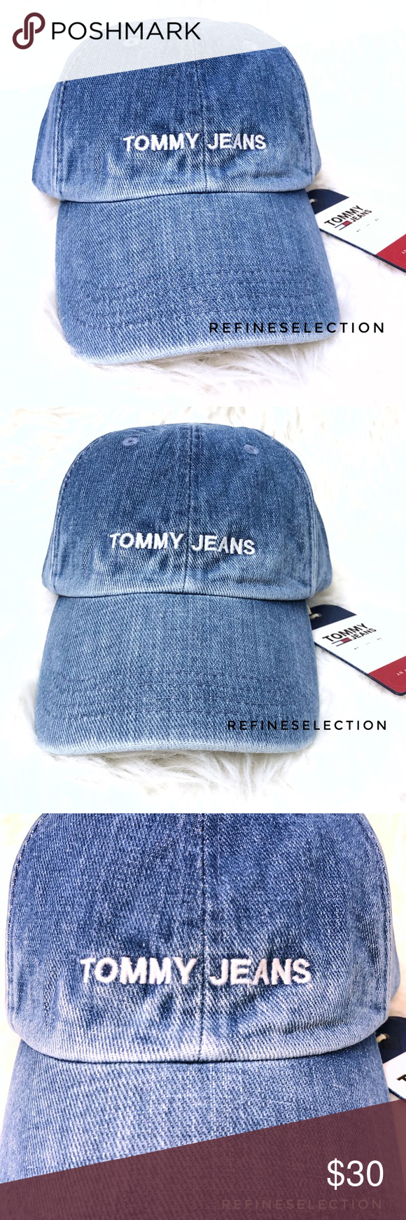 Tommy Hilfiger Jeans Washed Denim Snapback Hat Brand new with tags ... a19754fea958