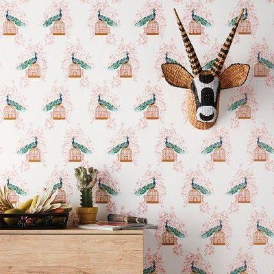 Peacock Peel & Stick Removable Wallpaper Opalhouse