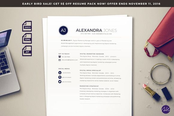 nice Beautiful Resume Template CreativeWork247 - Fonts, Graphics - fonts for a resume