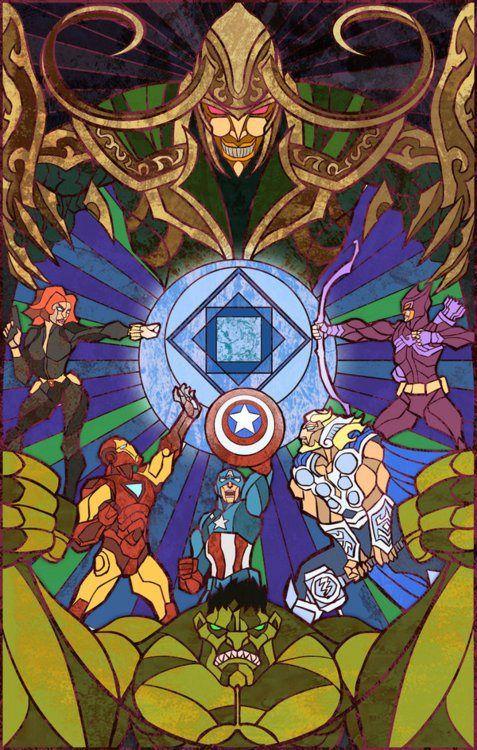 The Avengers Vitral