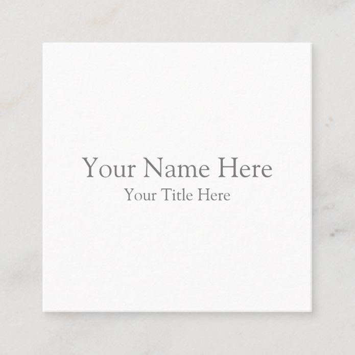 Create Your Own Square Business Card Zazzle Com In 2020 Square Business Card Blank Business Cards Custom Holiday Card