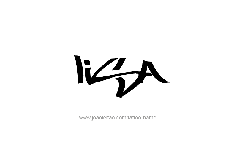 Lisa Name Tattoo Designs In 2020 Name Tattoos Name Tattoo Names