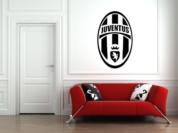Juventus F C Badge Wall Art Vinyl Decal Sticker Football Club Minimalist Wall Art Large Abstract Painting Wall Art Decor Latest juventus room paint color