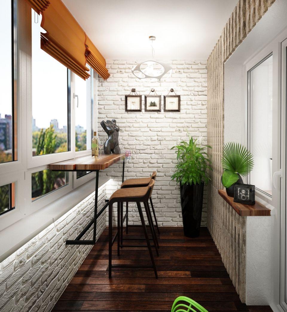 стиль лофт на балконе фото