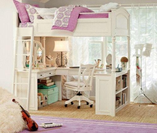 Teenage Girl Room Tumblr Girls Loft Bed Girls Bedroom