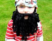 Crochet beard pattern pirate beard crochet pirate beard bearded lady child/adult size Instant Download #crochetedbeards