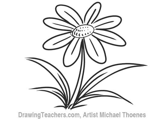 Cartoon flower how to draw a flower step by step how to draw cartoon flower how to draw a flower step by step mightylinksfo