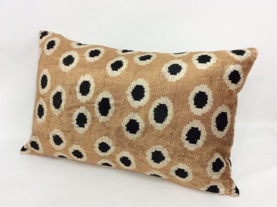 Peachy Ikat Velvet Pillow Case 16 X 24 Decorative Pillows For Short Links Chair Design For Home Short Linksinfo